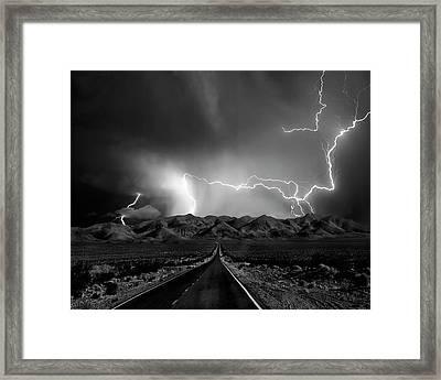 On The Road With The Thunder Gods Framed Print by Yvette Depaepe