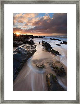 On The Rocks Framed Print by Mike  Dawson