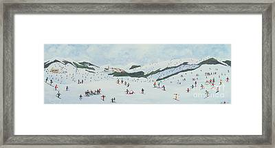 On The Slopes Framed Print by Judy Joel