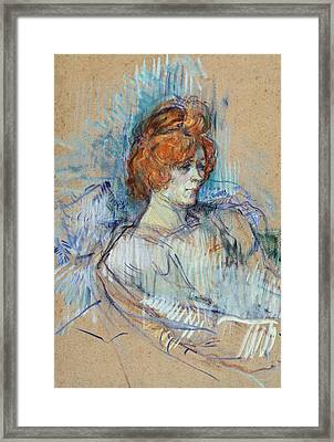 On The Stage Framed Print by Henri de Toulouse Lautrec