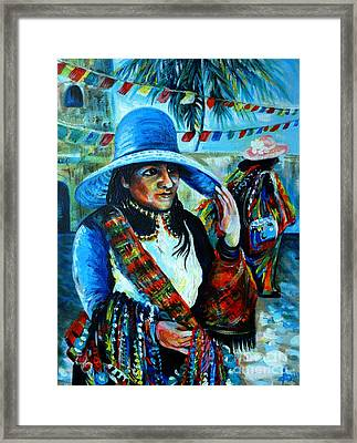 On The Streets Of Bucerias. Part Two Framed Print by Anna  Duyunova