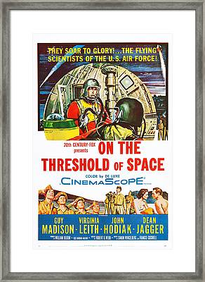 On The Threshold Of Space, Us Poster Framed Print by Everett