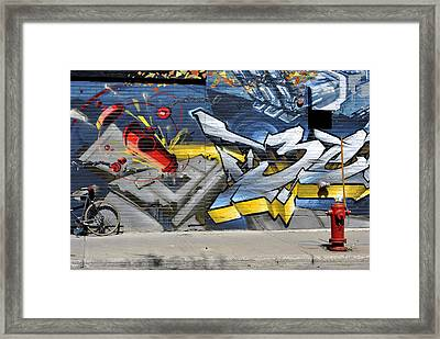On The Wall Framed Print by Frederico Borges