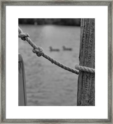 On The Water Framed Print by Dan Sproul