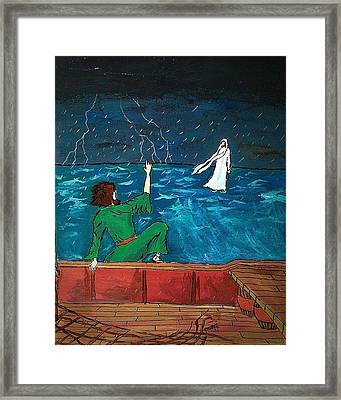 On The Water Framed Print by David Hannah