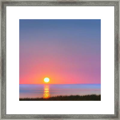 On The Water Square Framed Print by Bill Wakeley