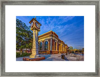 On Time Train Framed Print by Marvin Spates