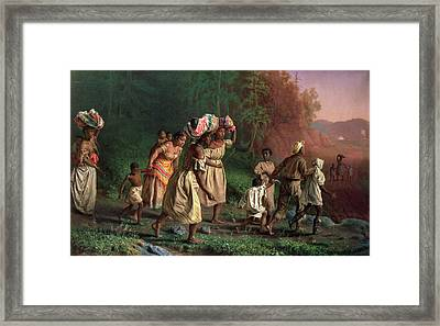 On To Liberty, 1867 Framed Print by Theodor Kaufmann