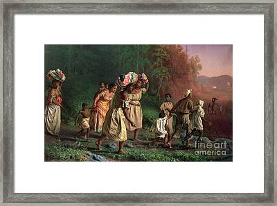 On To Liberty Framed Print by Theodor Kaufmann
