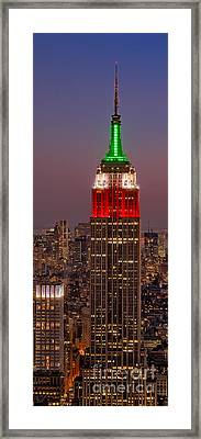 On Top Of The Rock Framed Print by Susan Candelario