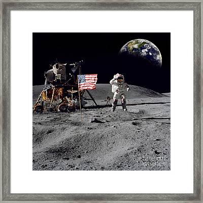 On Top Of The World Framed Print by Jon Neidert