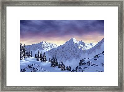 On Top Of The World Framed Print by Rick Bainbridge