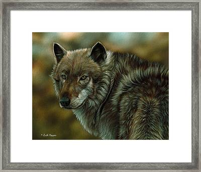 On Watch Framed Print by Ruth Hopper