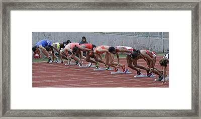 On Your Marks Framed Print by Shoal Hollingsworth