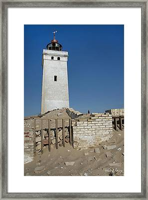 Once A Beacon Framed Print by Robert Lacy