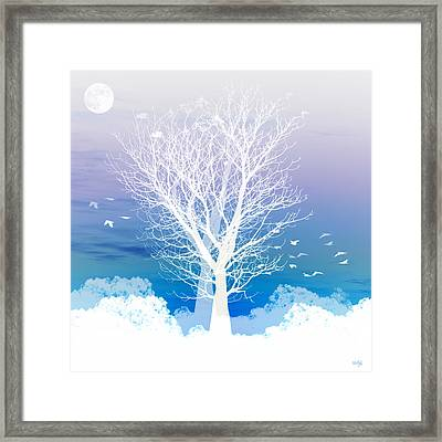 Once Upon A Moon Lit Night... Framed Print by Holly Kempe