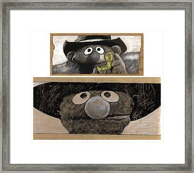 Once Upon A Time In Sesame Street Framed Print by Justin Clark