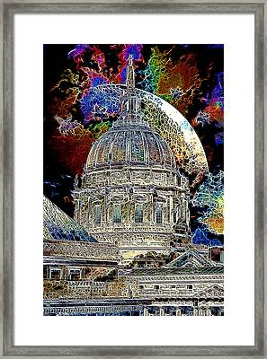 Once Upon A Time On A Warm Summers Night In San Francisco 5d22548 Artwork Framed Print by Wingsdomain Art and Photography