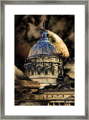 Once Upon A Time On A Warm Summers Night In San Francisco 5d22548 Partial Sepia Framed Print by Wingsdomain Art and Photography