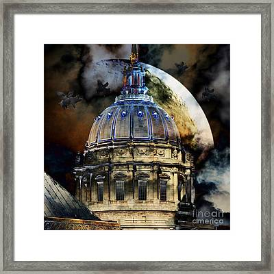 Once Upon A Time On A Warm Summers Night In San Francisco 5d22548 Square Framed Print by Wingsdomain Art and Photography