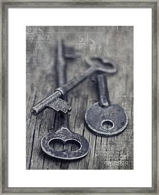 Once Upon A Time There Was A Lock Framed Print by Priska Wettstein