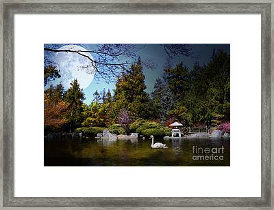 Once Upon A Time Under The Moon Lit Night . 7d12782 Framed Print by Wingsdomain Art and Photography