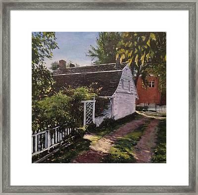Onderdonk House  Garden Framed Print by Victor SOTO