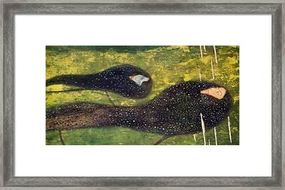 Ondine Framed Print by Gustav Klimt
