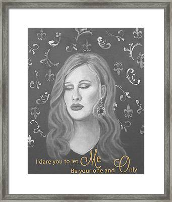 One And Only Framed Print by The Art With A Heart By Charlotte Phillips