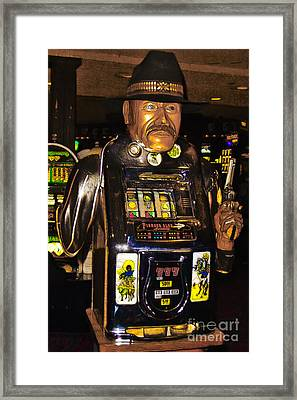 One Arm Bandit Slot Machine 20130308 Framed Print by Wingsdomain Art and Photography