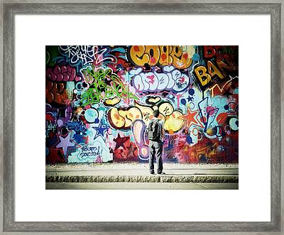 One Can't Paint New York As It Is But Rather As It Is Felt Framed Print by Natasha Marco