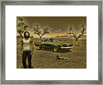 One Cobra A Lizard And Their King Framed Print by Michael Cleere