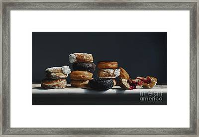 One Dozen Donuts Framed Print by Larry Preston