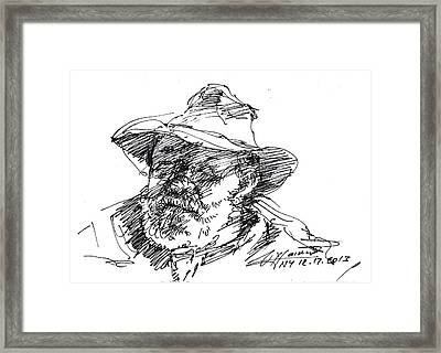 One Eyed Man Framed Print by Ylli Haruni
