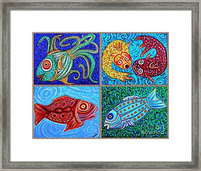 One Fish Two Fish Framed Print by Sarah Loft
