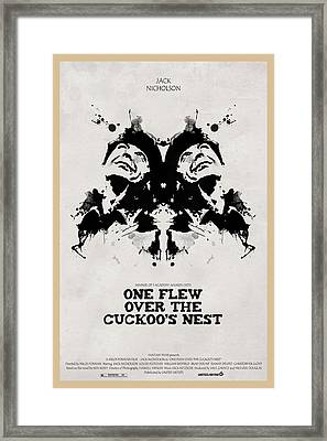 One Flew Over The Cuckoos Nest Alternative Poster Framed Print by Edgar Ascensao