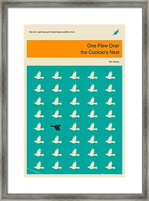 One Flew Over The Cuckoos Nest Framed Print by Jazzberry Blue