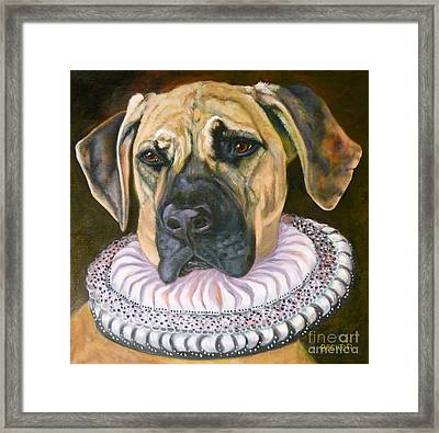 One Formal Pooch Framed Print by Susan A Becker