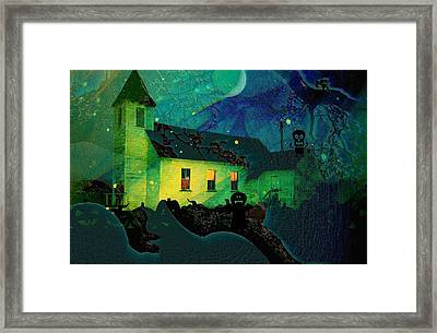One Hallowed Evening Framed Print by Shirley Sirois