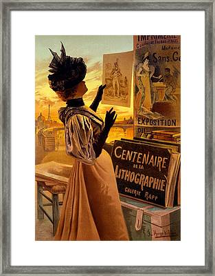 One Hundred Years Of Lithography Framed Print by Hugo d' Alesi