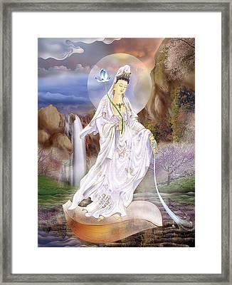 One Leaf Kuan Yin Framed Print by Lanjee Chee
