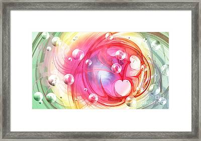 One Love... One Heart... One Life Framed Print by Peggy Hughes