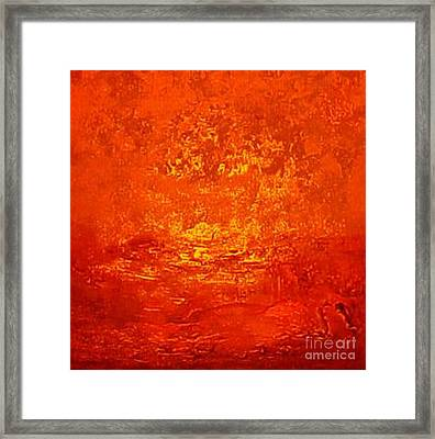 One Night In Old Shanghai By Rjfxx.-original Minimalist Abstract Art Painting Framed Print by RjFxx at beautifullart com