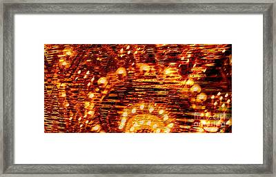 One Night In Paris - Abstract Art Framed Print by Carol Groenen