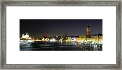 One Night In Venise Framed Print by Cedric Darrigrand