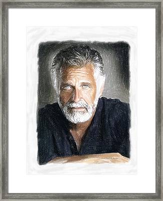 One Of The Most Interesting Man In The World Framed Print by Angela A Stanton