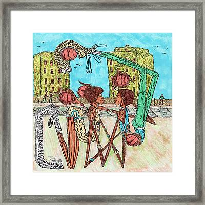 One On One Framed Print by Richard Hockett