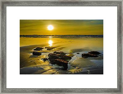 One Oregon Coast Sunset Framed Print by Puget  Exposure