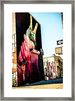 One Peace Framed Print by Anselm Molina