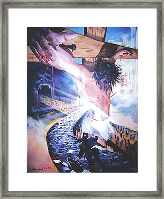 One Road Framed Print by Ricardo Colon